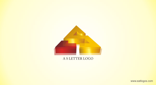 Golden effect text 3d logo