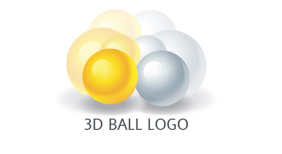 3d logo design for gold ball