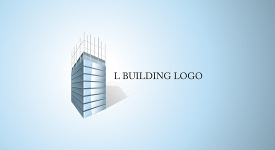 L SHAPE BUILDING LOGO INSPIRATION DESIGN