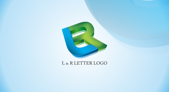 L  R 3D LOGO INSPIRATION IDEA