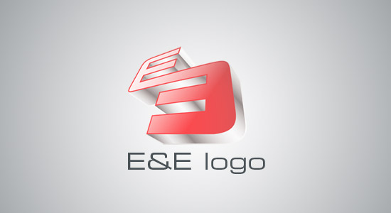 E E 3D PSD LOGO INSPIRATION IDEA