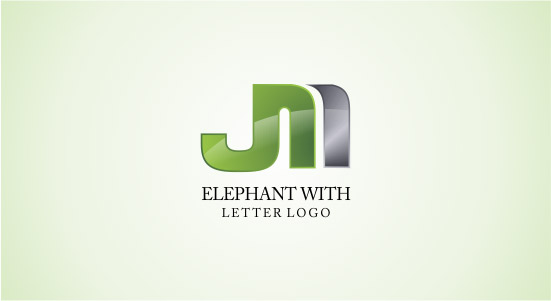 Abstract 3d shape logos