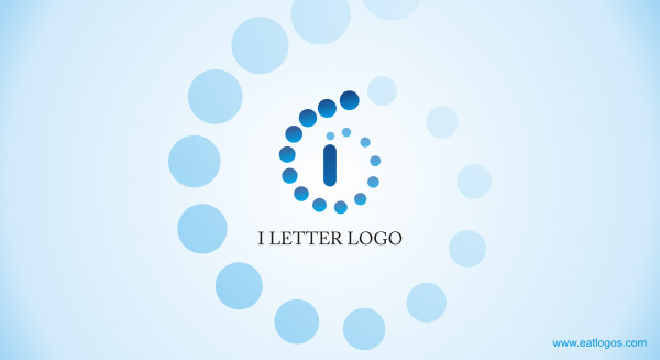 LETTER LOGO FOR I WITH 3D