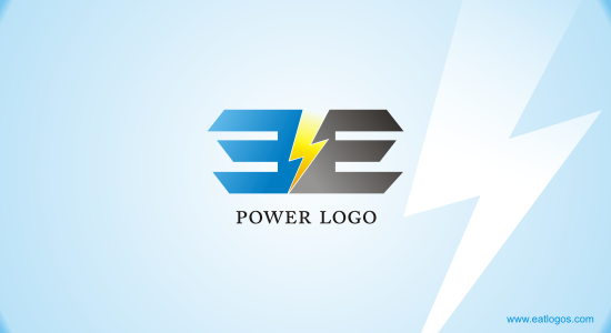 POWER WITH E LETTER LOGO