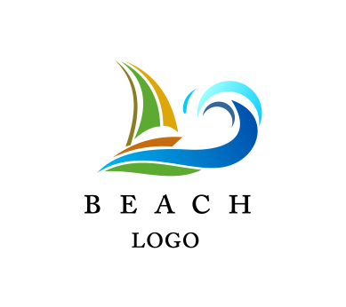 Beach water entertainment vector logo download | Vector ...