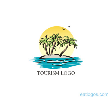 Tourism beach logo idea download | Vector Logos Free ...