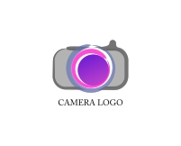 Colorful camera logo design