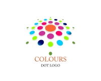 Colorful abstract dot logo designs