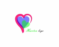 Colorful heart logo design