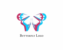 Vector 3d Butterfly Fashion Logo
