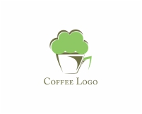Vector Food Heat Coffee Cup Logo