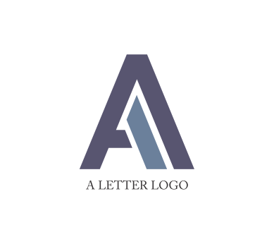 a and a alphabet logo design
