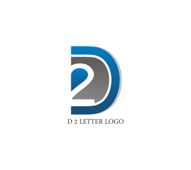 d 2 letter logo design download vector logos free