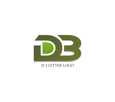 free d 3 letter logo design download