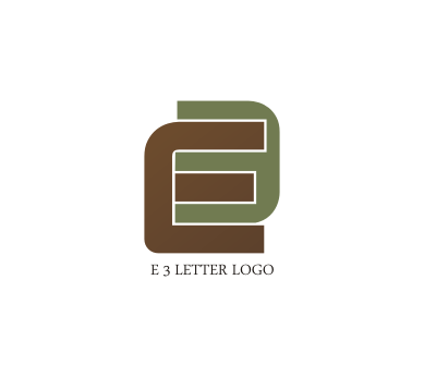 free e 3 letter logo design download