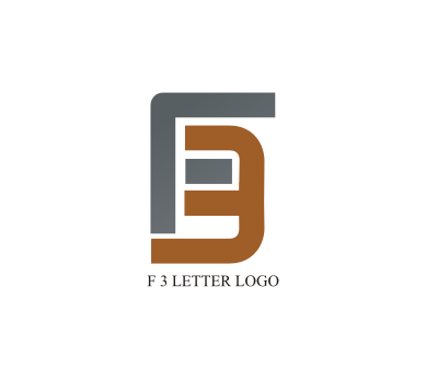 free f 3 letter logo design download