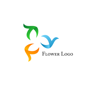 Flower colour art inspiration vector logo design download ...