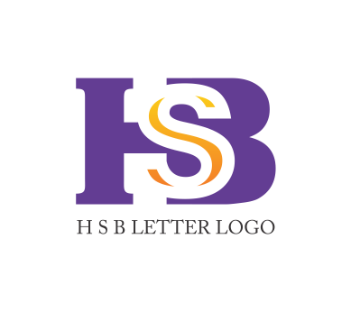 H S B Letter Logo Psd Design Download Vector Logos Free