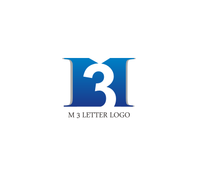 free m 3 letter logo design download