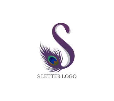 s peacock letter logo psd design download alphabet logos