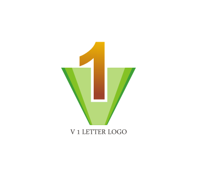 v 1 letter logo design download vector logos free download list
