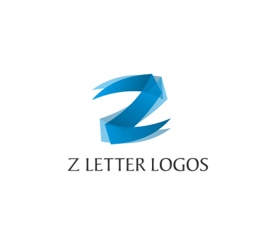 Z 3d Logo Design The Letter Z In Blue Eat logos : z letter alphabit