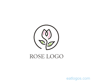 Rose Logo Design Editable Download Art Logos Vector Logos Free