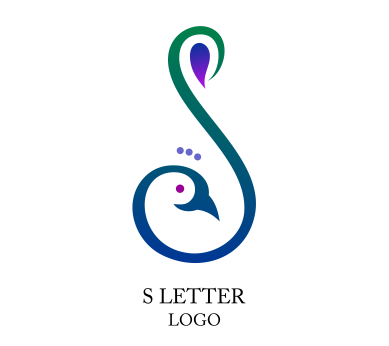 FREE S LETTER ALPHABET PEACOCK INSPIRATION VECTOR LOGO DESIGN DOWNLOAD: www.eatlogos.com/art_logos/art_free_logos_download.php?eatlogos=s...