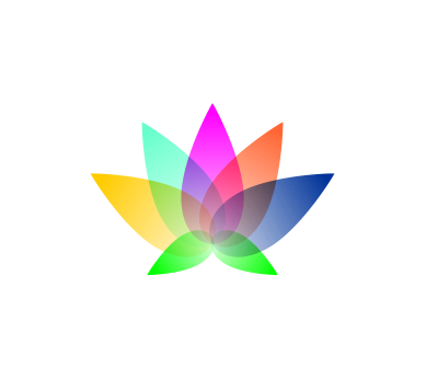 Vector art logo colourful lotus download art logos for Painting and decorating logo ideas