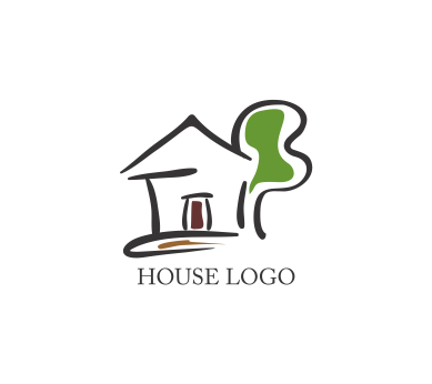 Vector drawing house logo inspiration download vector for Household design logo