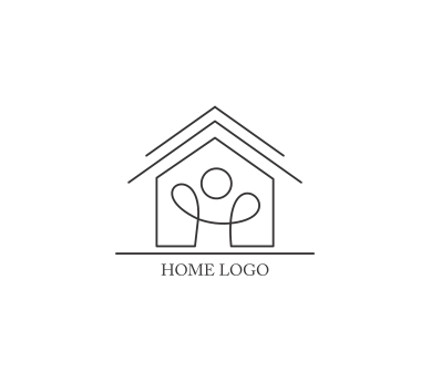 Vector house logo design download vector logos free for Household design logo