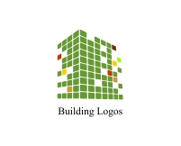 Colorful urban building logo