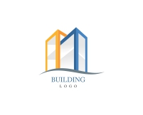 Brush strokes building logo designs