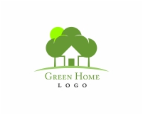 Tree with house logo design
