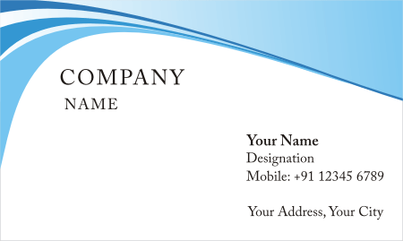 blue ray background visiting card design download vector