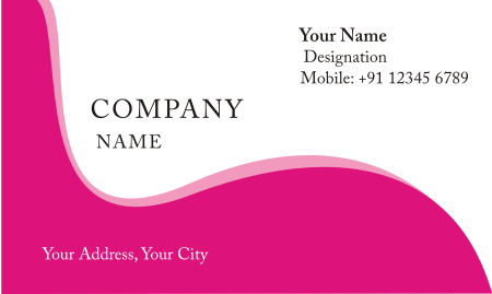 pink business card