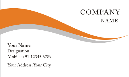 White With Orange Visiting Card Design Download