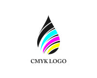 Logo design for color drops/