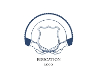 Simple education logos