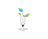 Beautiful education logo design