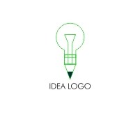 Logo design for pencil with bulp