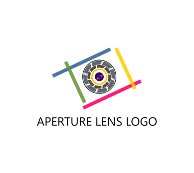 aperture camera lens art vector logo download vector