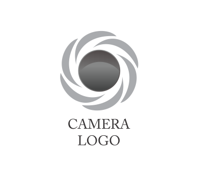 vector camera lens aperture logo inspiration download