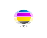 Vector emblem designs for cmyk color