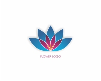 Modern colorful flower logo design