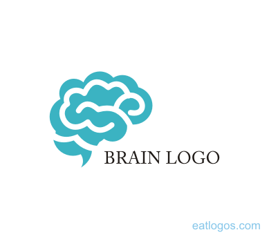 brain vector logo -#main