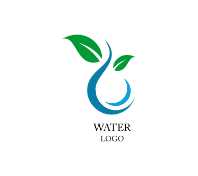 water nature leaf inspiration vector logo design download