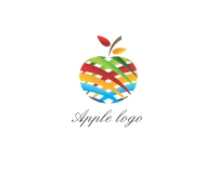 Vector Colurful Apple Logo