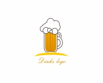 Logo designs for beer cup vector