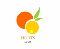 Vector Food Orange Logo